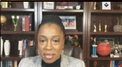 Illinois Public Health Director Dr. Ngozi Ezike speaks during the daily virtual COVID-19 briefing on Wednesday.