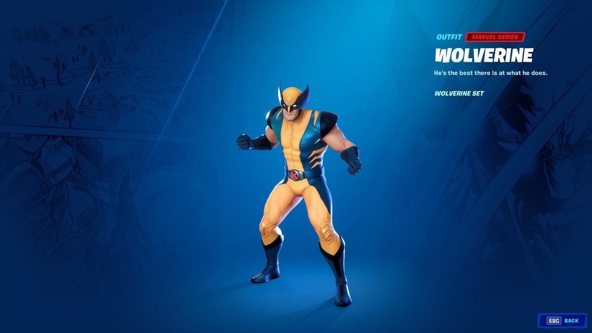 Fortnite's Wolverine skin