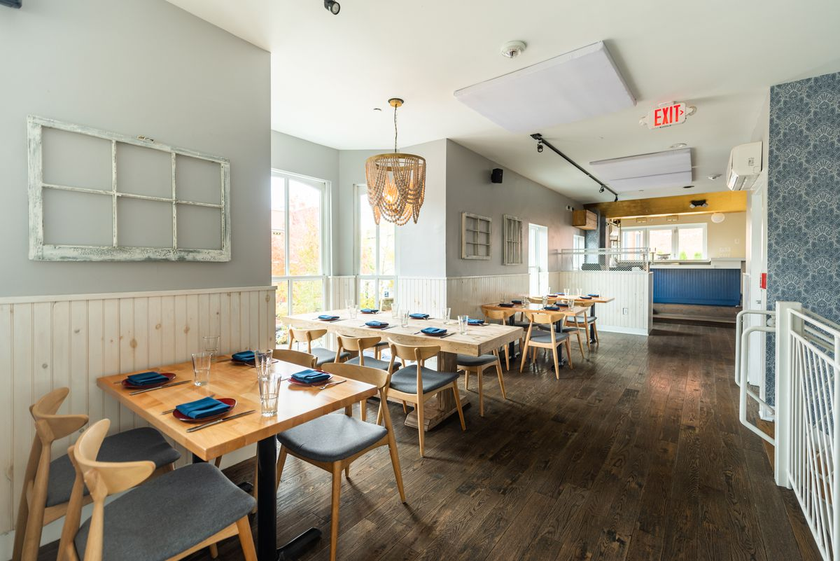 The dining room upstairs has a bar that might be used for special cocktail menus down the road.