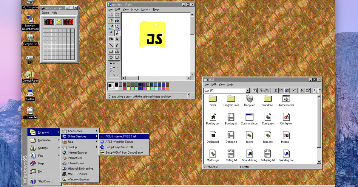 Windows 95 is Now an App You Can Download and Install on MacOS, Windows, and Linux