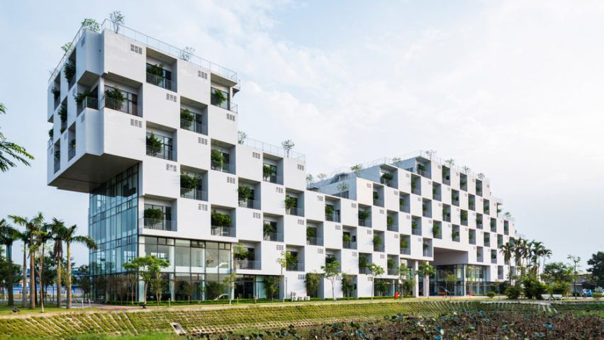 This Modern Office Building Looks Like A Plant Checkerboard Curbed