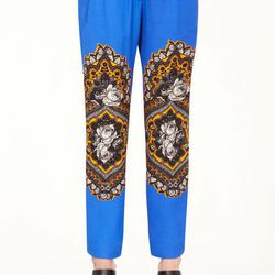 """<b>Stella McCartney</b> Ornate Floral Print Taylor Trousers, <a href=""""http://www.stellamccartney.com/default/shop-products/new-arrivals#!{%22page%22:{%22href%22:%22/Ornate-Floral-Print-Taylor-Trousers/804888653,default,pd.html?format=ajax%22},%22products%"""