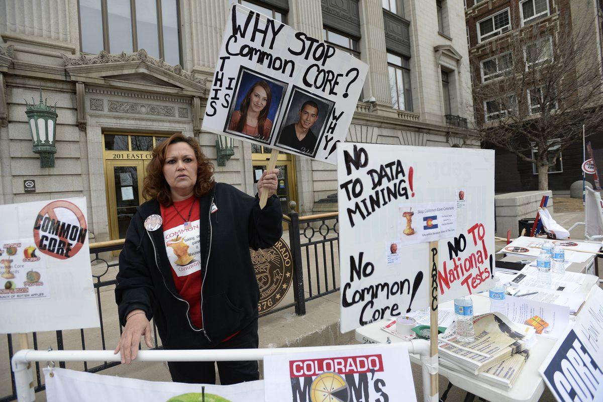 A Colorado protest against Common Core.