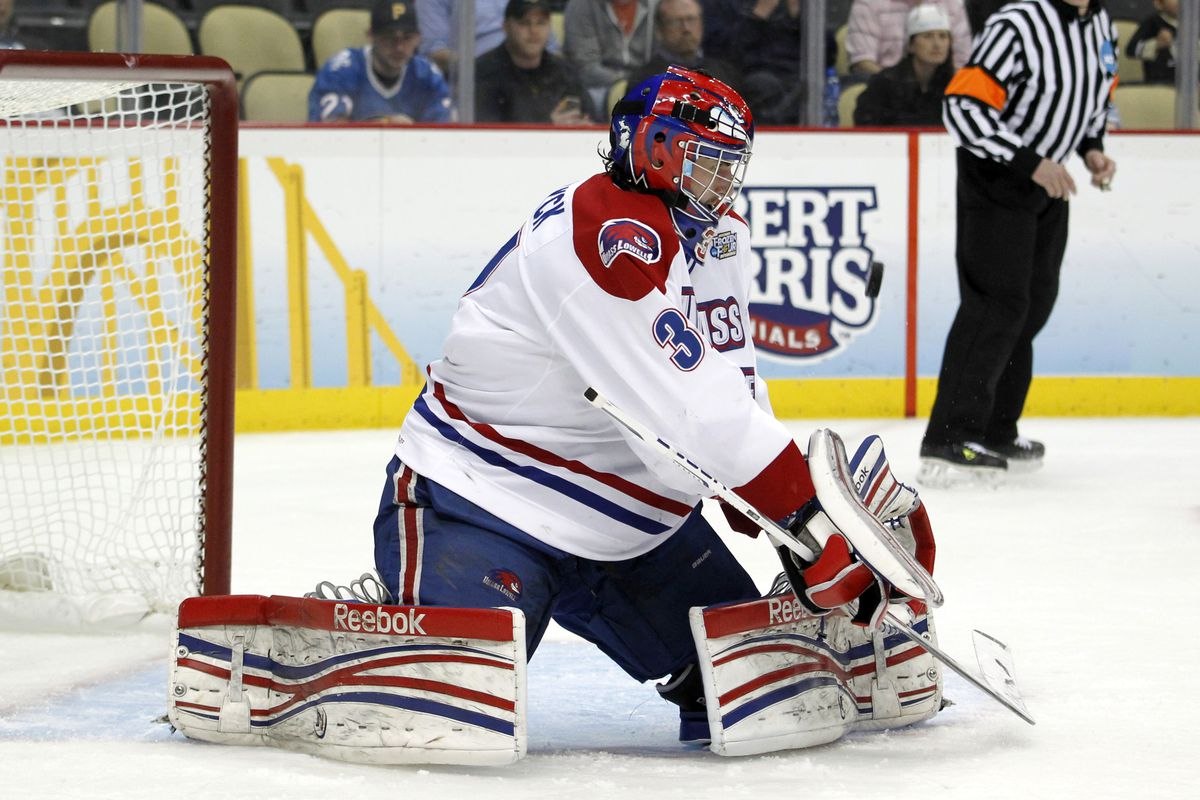 UMass-Lowell sophomore goaltender Connor Hellebuyck led his team to the 2013 Frozen Four.