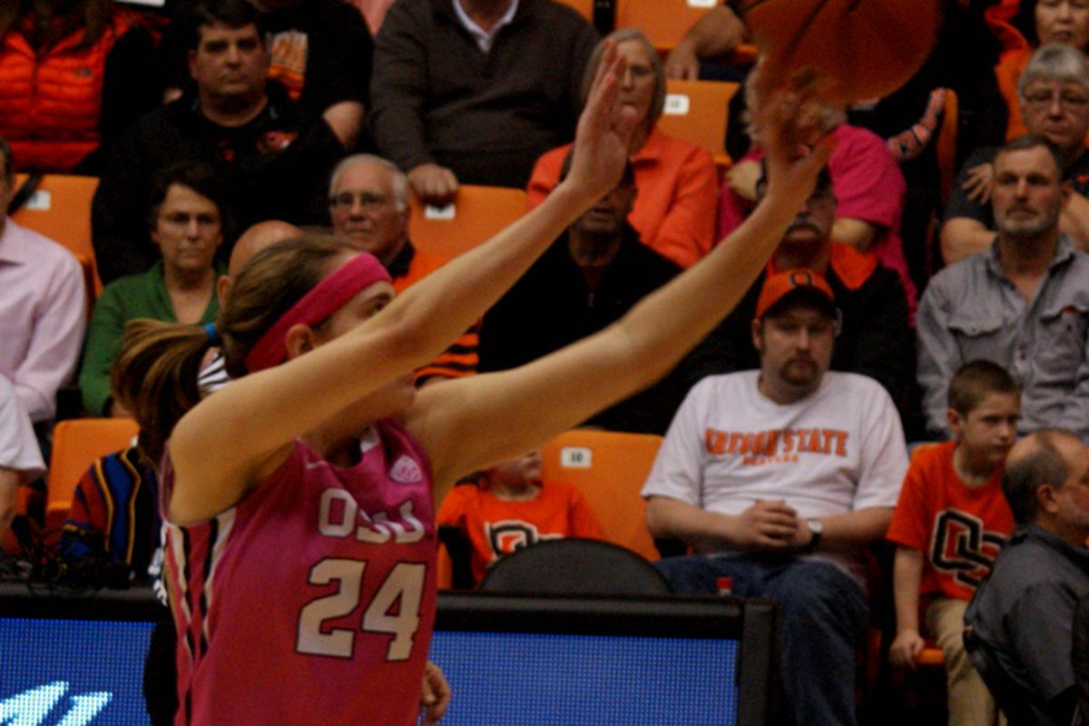 Sydney Wiese had 35 points for Oregon St. in their pair of wins last weekend.