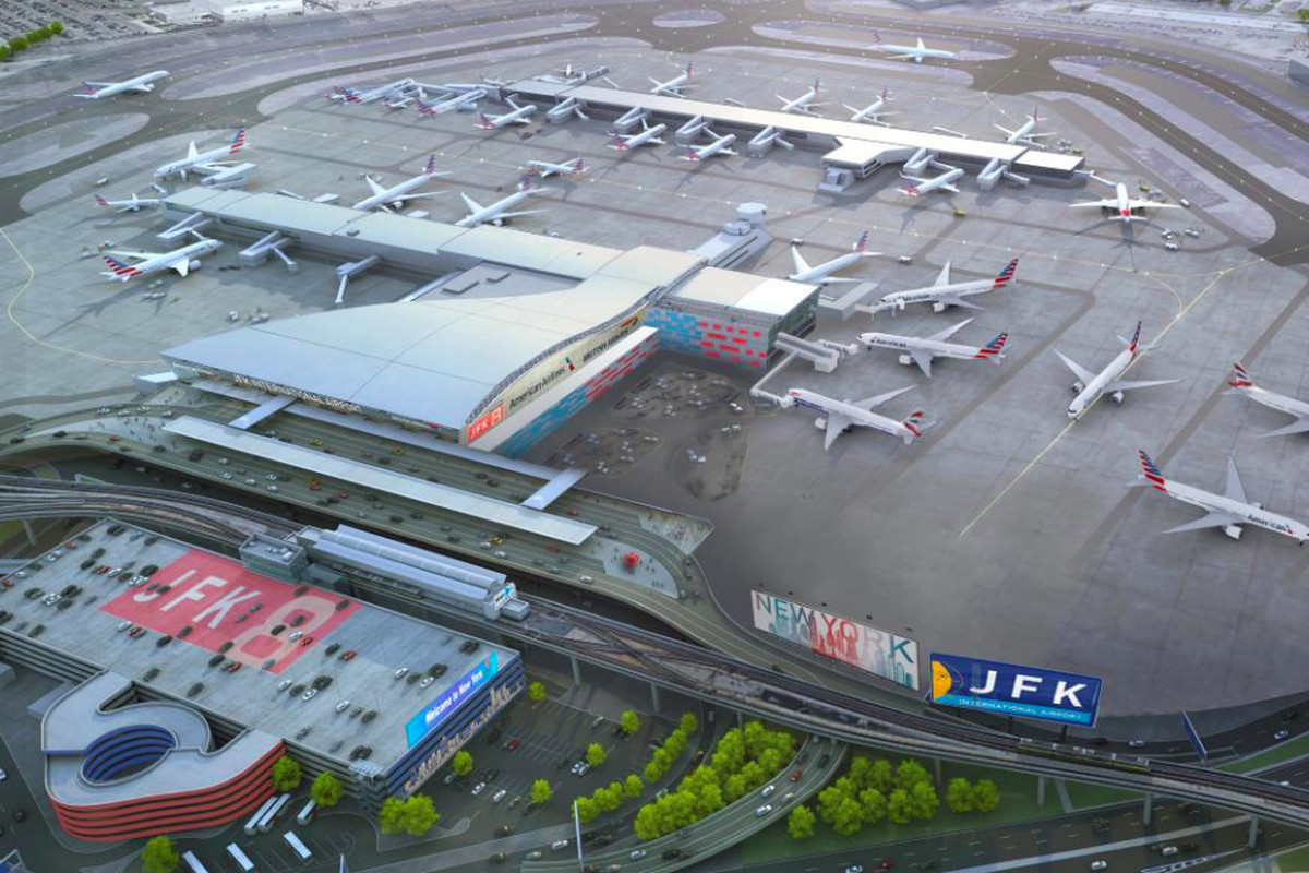 Jfk Airport S Terminal 8 To Get 344m Upgrade Curbed Ny