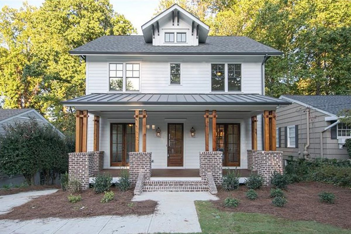 A new home for sale in the Morningside neighborhood of Atlanta.