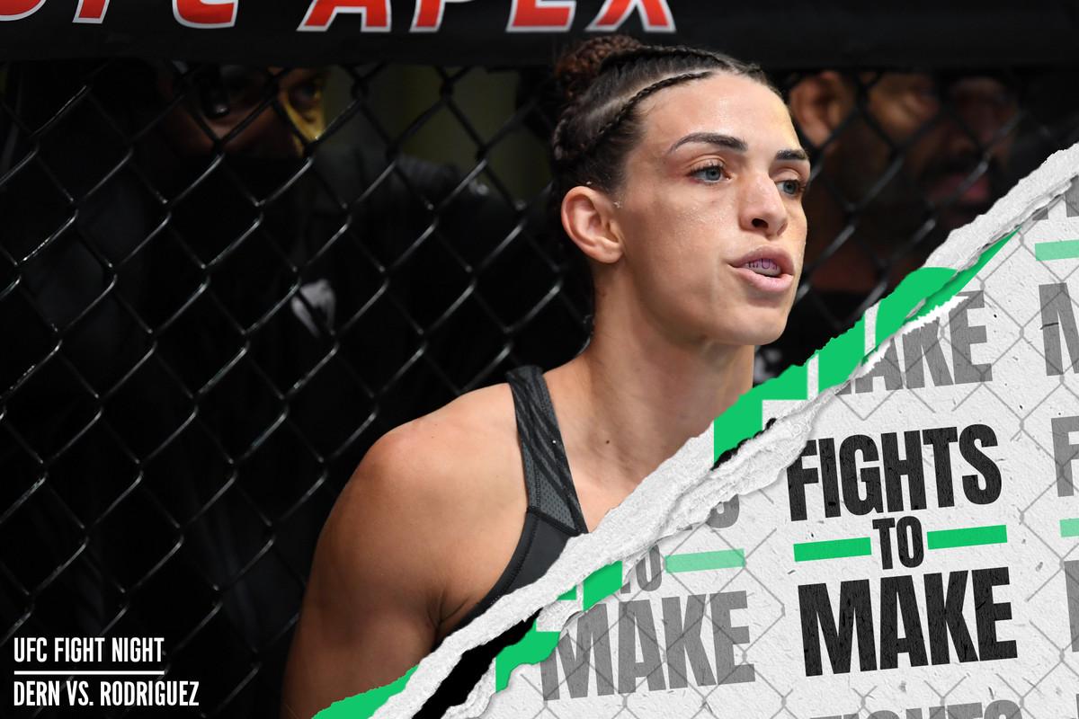 Mackenzie Dern prior to her UFC Vegas 39 loss to Marina Rodriguez.