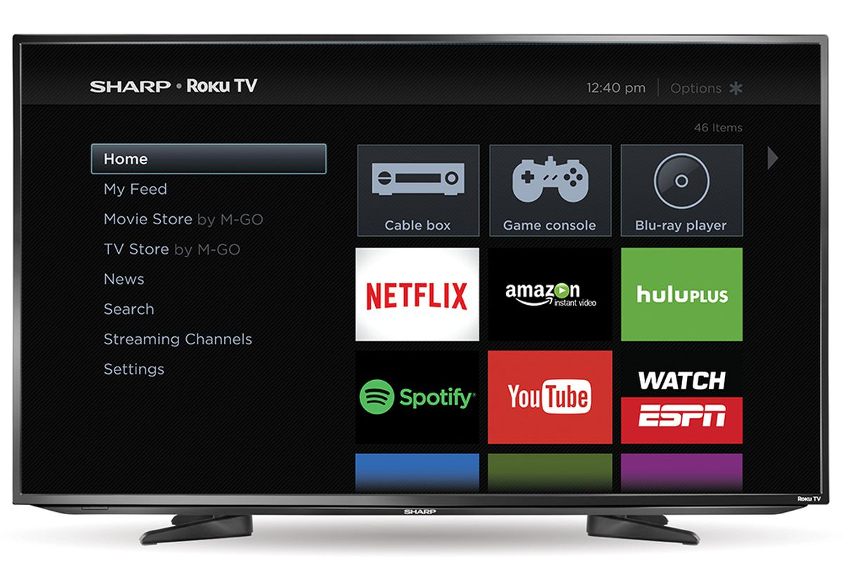 sharp is now selling smart tvs with roku built in the verge. Black Bedroom Furniture Sets. Home Design Ideas