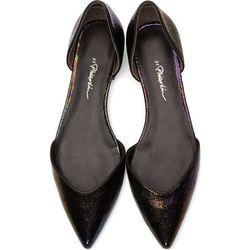 "<b>3.1 Phillip Lim</b> flats, <a href=""https://www.ssense.com/women/product/31_phillip_lim/iridescent-black-leather-devon-d-orsay-flats/113461"">$198</a>"