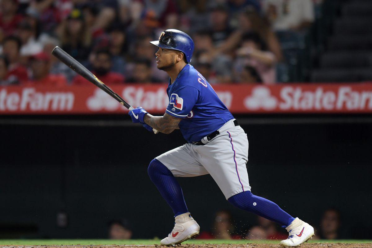 MLB: AUG 27 Rangers at Angels