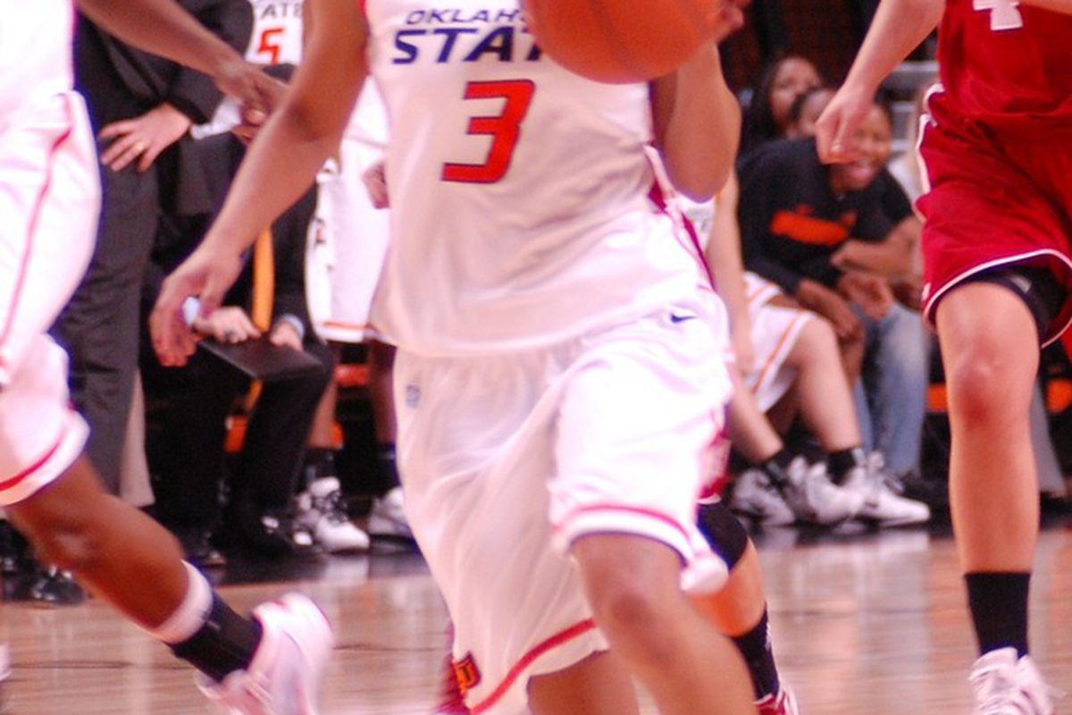 Freshman Tiffany Bias led all scorers in OSU's 50-42 win over the Badgers.