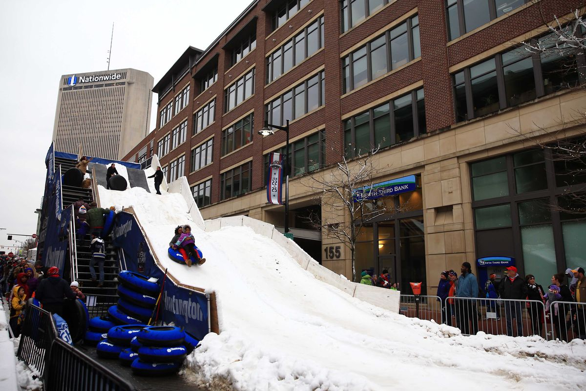 There will not be a snow slide at the NHL Fan Fair. It's really for the best.