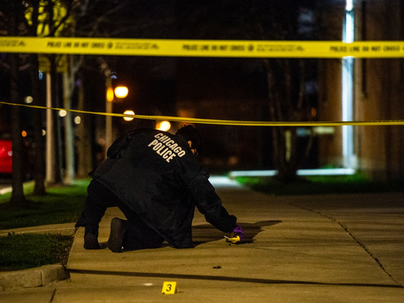 At least nine people were shot, 1 fatally, April 22, 2021 in Chicago.