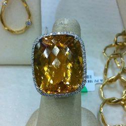 Gorgeous citrine statement ring