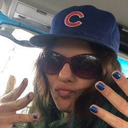 Nicole Rocking Cubs Nails