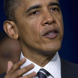 President Barack Obama speaks at the White House Forum on Women and the Economy, Friday, April 6, 2012, in the South Court Auditorium of the Eisenhower Executive Office Building on the White House complex in Washington.