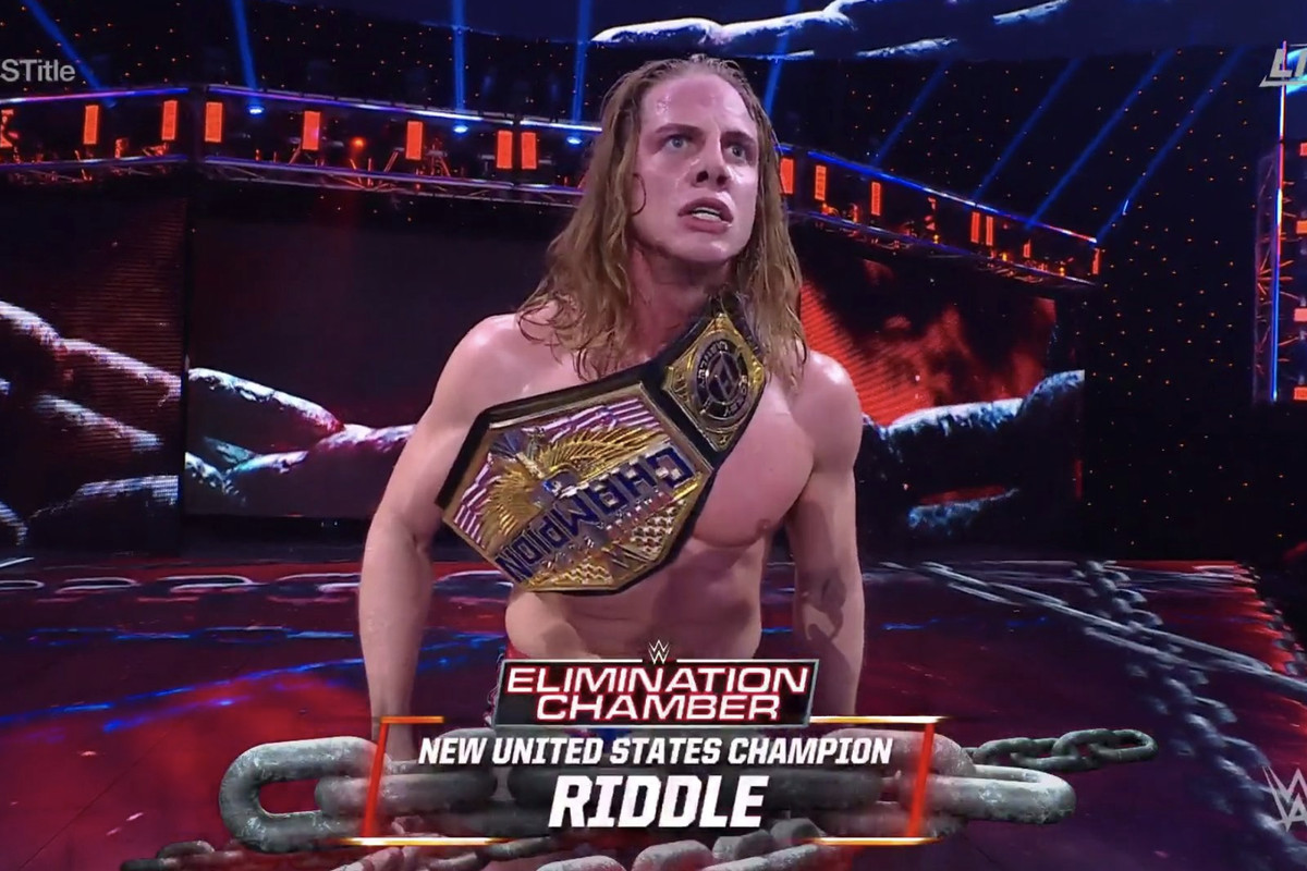 WWE Elimination Chamber 2021 results: Riddle wins U.S. championship -  Cageside Seats