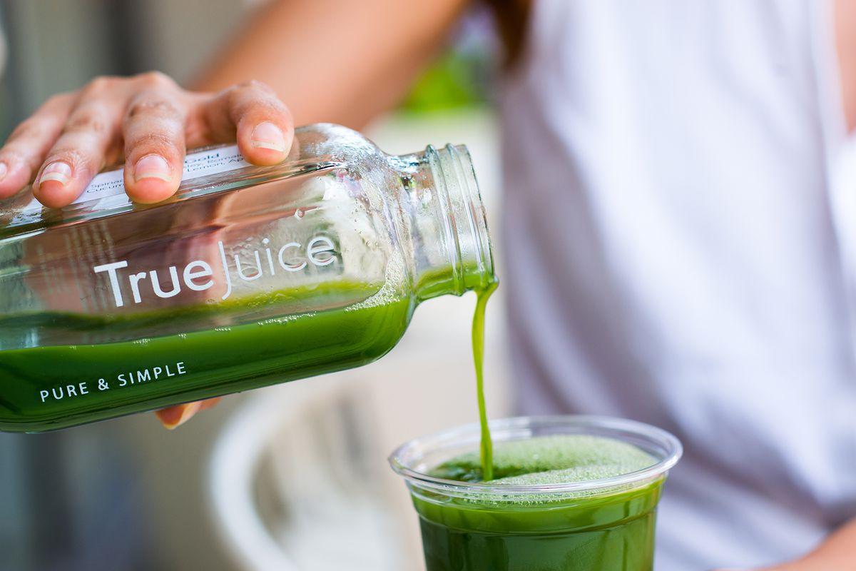 A green juice at True Juice