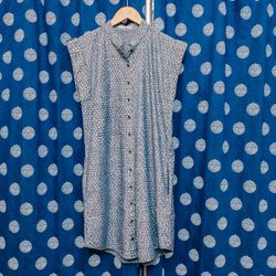 Alternative Apparel Chambray Polka Dot Dress, $112