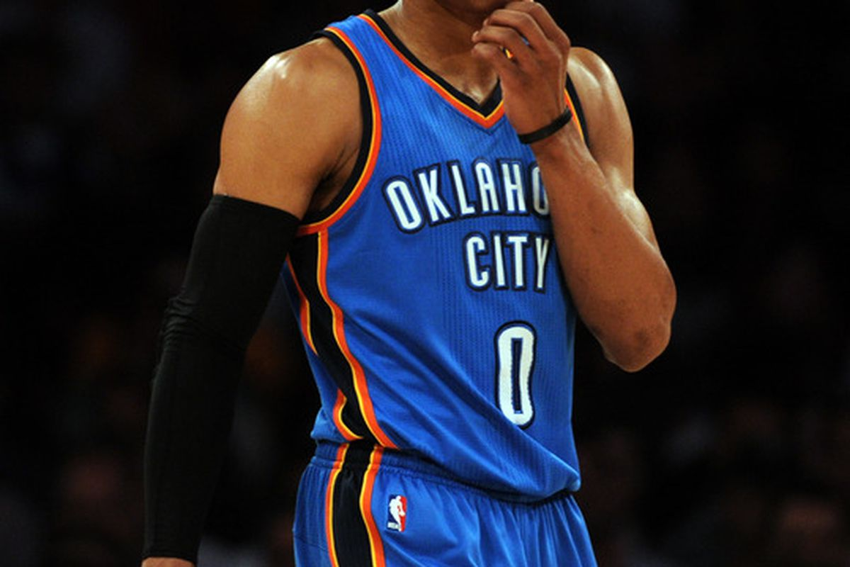 Russell Westbrook is thinking about how easy it will be for him to get to the rim.