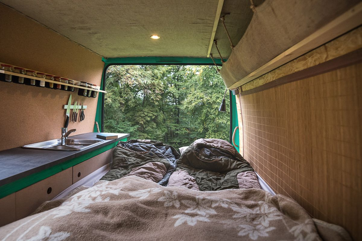 Inside An Old Van Turned Tiny Mobile Home Curbed
