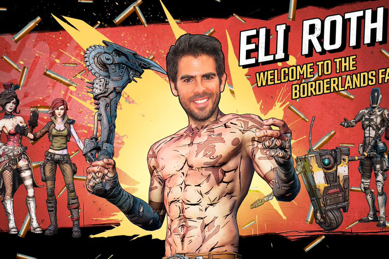 Eli Roth's announcement post for the Borderlands film adaptation