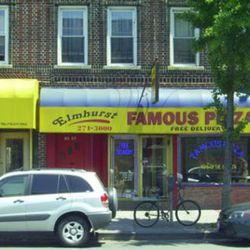 """<b>Elmhurst Famous Pizza</b>:  You've made it all the way out to Elmhurst, so you deserve the best. (<a href=""""http://www.city-data.com/businesses/474620051-elmhurst-famous-pizza-flushing-ny.html"""" rel=""""nofollow"""">photo</a>)"""