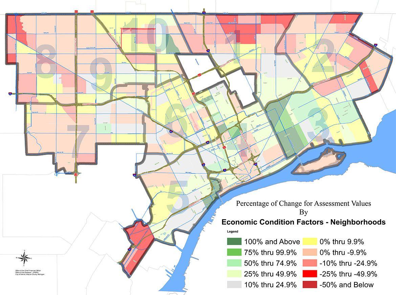 Detroit Property Values Map
