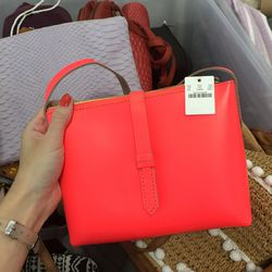 Small leather bag, $90