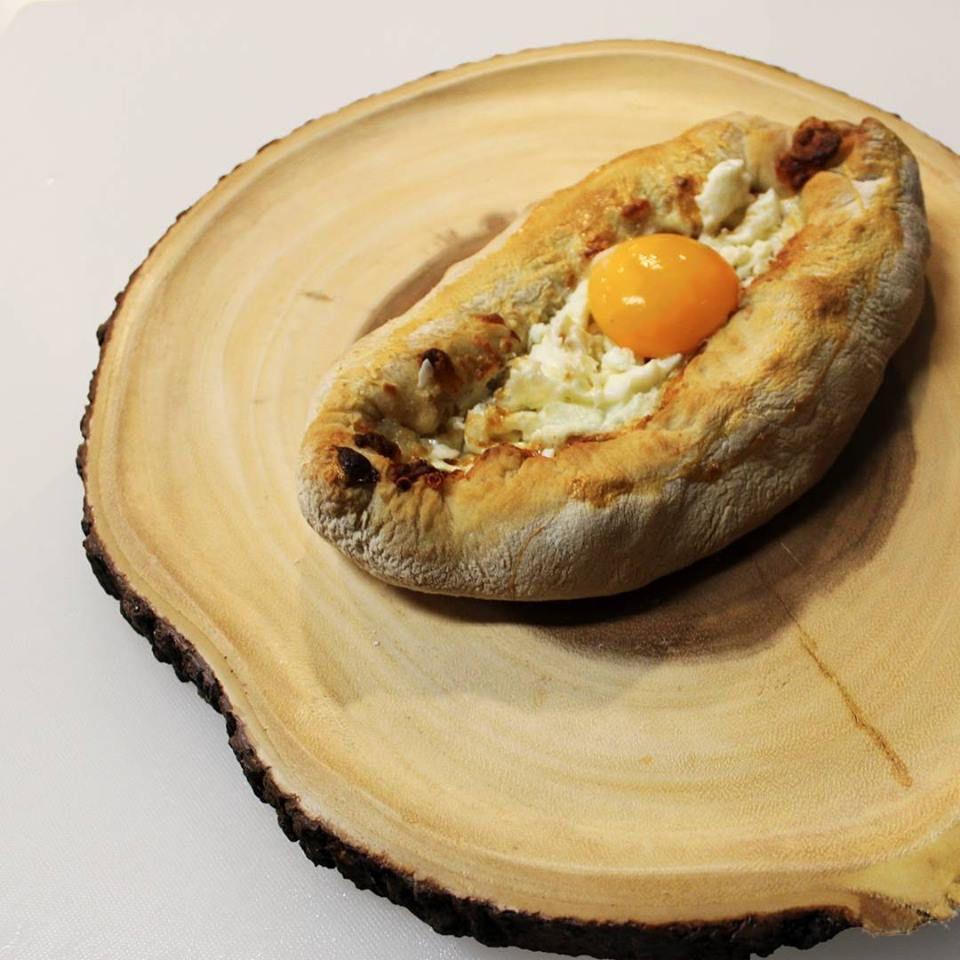 Adjarian khachapuri at Jana Grill & Bakery
