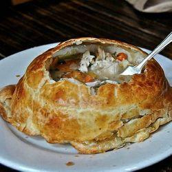 "Pot pie at The Grove. <a href=""http://www.flickr.com/photos/fuzzytraveler/6935897838/in/pool-520531@N21/"">fuzzytraveler</a>"