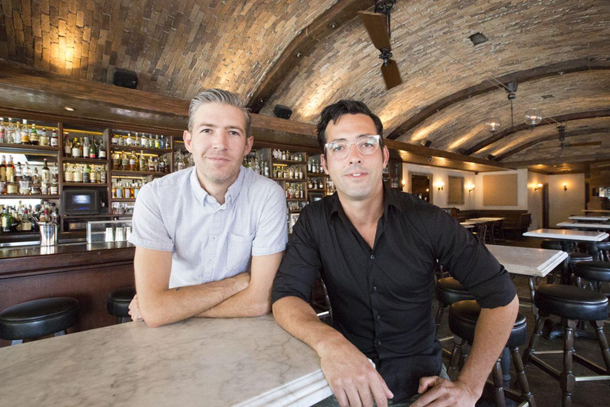 Steve Livigni and Pablo Moix at Black Market Liquor Bar, Studio City