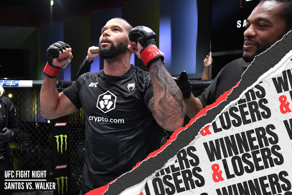 Thiago Santos defeated Johnny Walker in the UFC Vegas 38 main event.