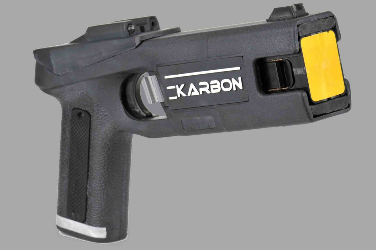 Karbon Arms' MPID electroshock gun was designed to compete with similar products by Taser International. Karbon went out of business this month after a long legal battle with Taser.