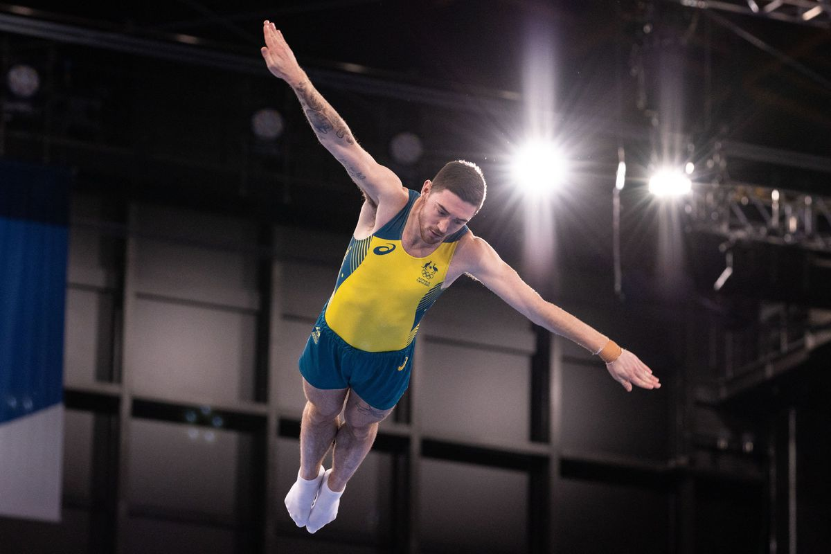 Dominic Clarke competes at the Olympics.