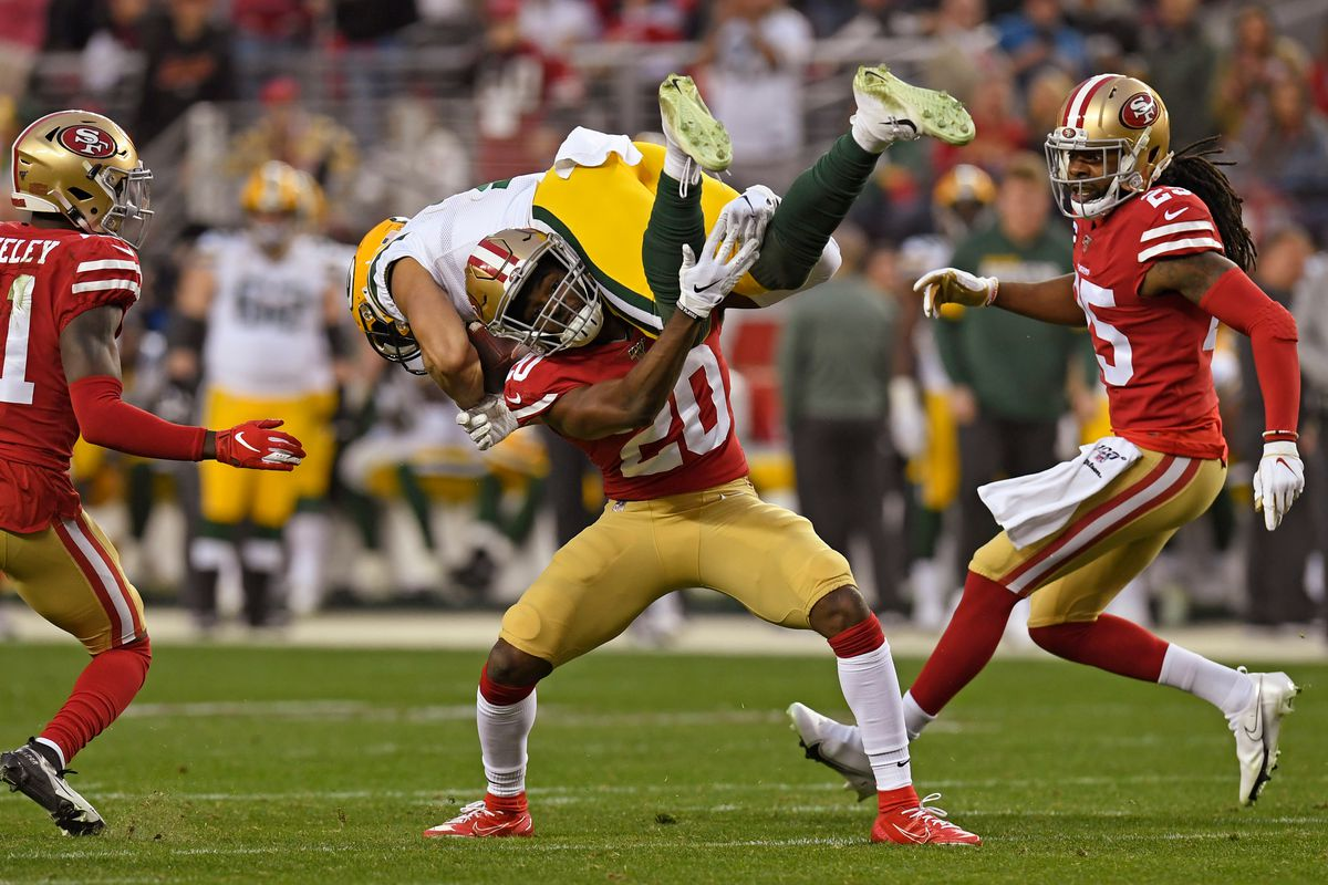 San Francisco 49ers versus Green Bay Packers in NFC Championship