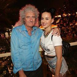 Brian May and Katy Perry at Botero. Photo: Danny Mahoney