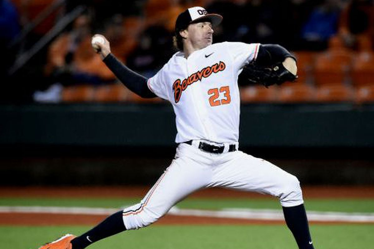 A complete game by Andrew Moore was more than the best hitting team in the Pac-12 could handle Friday night.