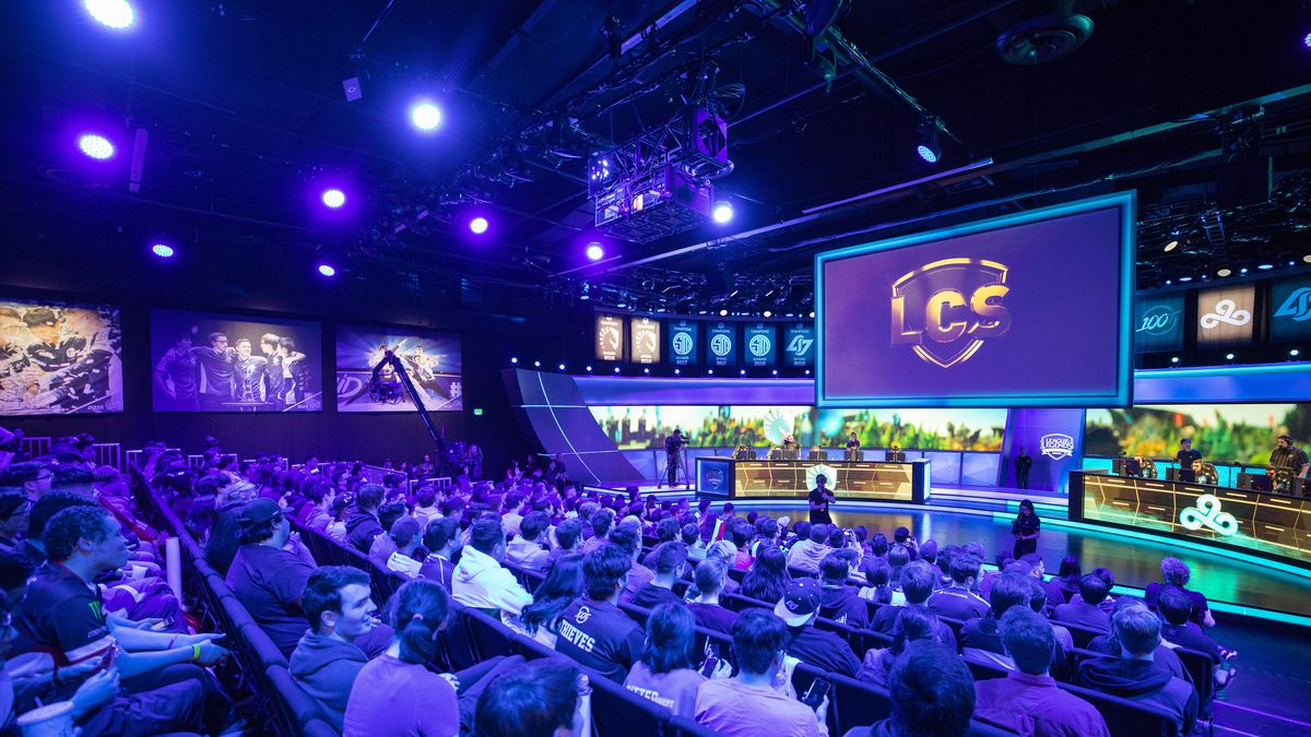 The LCS Arena, filled with viewers