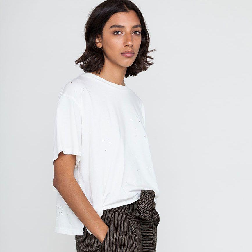A white baggy T-shirt