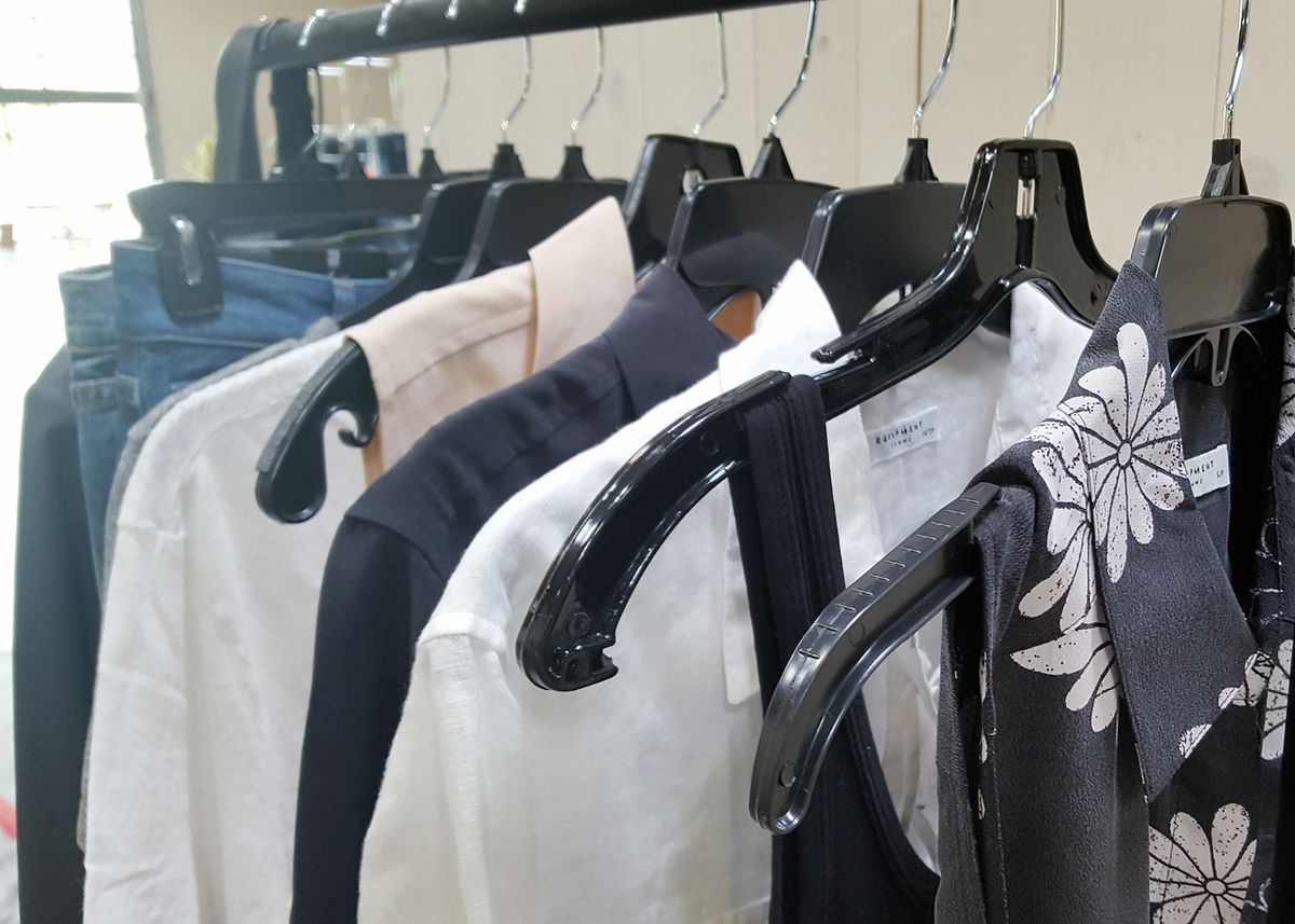 A closeup of handpicked clothing options from Trunk Club's LA stylist Brooke Lefton