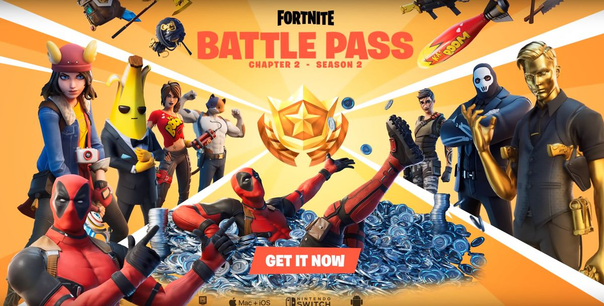 Deadpool showing off his own hidden skin the Fortnite chapter 2 season 2 battle pass trailer