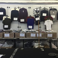 Sweaters and shirts, priced as marked