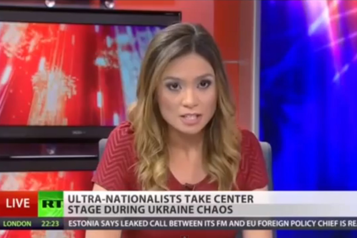 Russia Today anchor quits live on air over network's