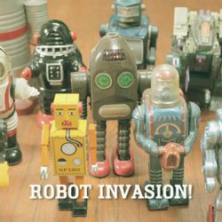 Things you can swap include your robot collection.