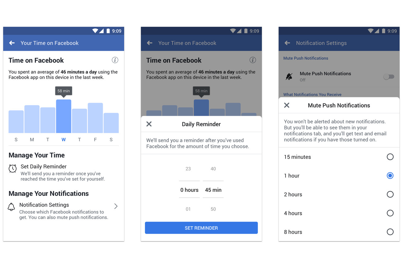 Facebook rolls out time spent dashboard