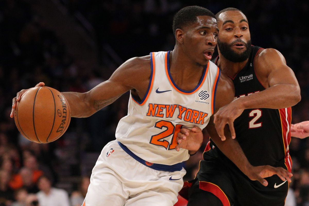 NBA: Miami Heat at New York Knicks