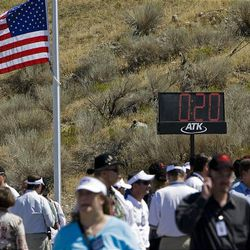 The countdown to the first stage ground test of the Ares 1 Motor stopped at t-minus 20 seconds at the ATK facilities in Promontory, Utah, Thursday.