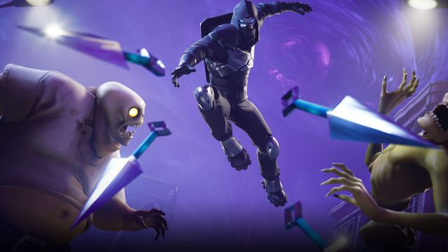 A ninja throws kunai at monsters in artwork for Fortnite: Save the World